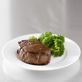Beef steak fillet with broccoli Royalty Free Stock Photos
