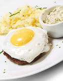 Beef Steak with Fried Egg Stock Images