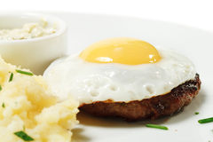 Beef Steak with Fried Egg Royalty Free Stock Photo