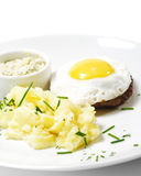 Beef Steak with Fried Egg Royalty Free Stock Photos