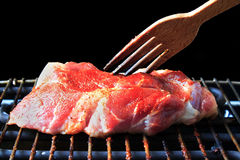 Beef steak on the grill Stock Photos