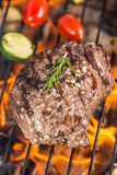 Beef steak on grill Royalty Free Stock Photography