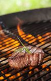 Beef steak on grill Stock Photo