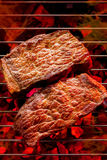 Beef steak on the grill Royalty Free Stock Photos