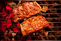 Beef steak on the grill with Stock Image