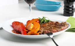 Beef steak with grill marks Royalty Free Stock Image