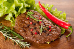 Beef steak grilled Stock Photos