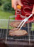 Beef steak grilled on a barbecue Royalty Free Stock Photo