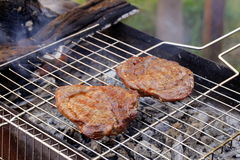 Beef steak grilled on a barbecue Royalty Free Stock Photos