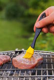 Beef steak grilled on a barbecue Royalty Free Stock Image