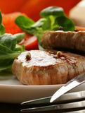 Beef steak grilled with fresh salad Stock Image