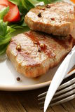 Beef steak grilled with fresh salad Stock Photography