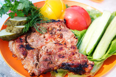 Beef steak grilled Stock Images