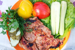 Beef steak grilled Royalty Free Stock Photo