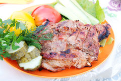 Beef steak grilled Royalty Free Stock Image