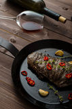 Beef steak with herbs and chilli, product photo Stock Photography