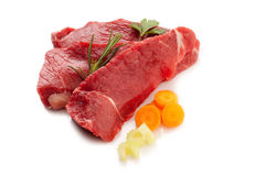 Beef steak with ingredients Royalty Free Stock Photos
