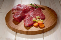 Beef steak with ingredients Royalty Free Stock Images