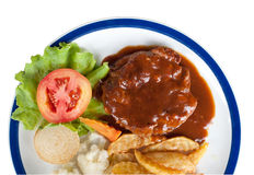 Beef steak isolated Stock Photography