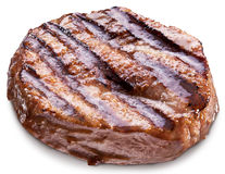 Beef steak isolated on a white background. Royalty Free Stock Photos