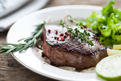 Beef steak medium rare Royalty Free Stock Photography