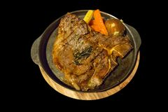 Beef steak medium Rib Eye T-Bone Steak stock photography