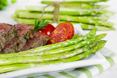 Beef steak medium roast Stock Images