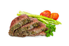 Beef steak medium roast Stock Photo