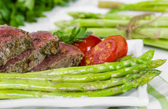 Beef steak medium roast Stock Photos