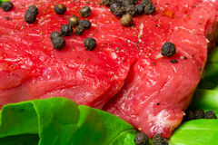 Beef steak with pepper royalty free stock images