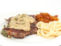 Beef steak with pepper Royalty Free Stock Image
