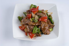 Beef steak with peppers Royalty Free Stock Image
