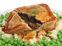 Beef Steak Pie & Mash stock images