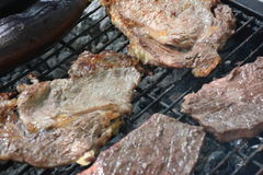 Beef steak on plate.Soft focus Royalty Free Stock Images