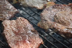 Beef steak on plate.Soft focus Royalty Free Stock Photography