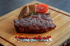 Beef steak with potatoes Royalty Free Stock Images