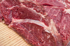 Beef, steak, raw meat close up Royalty Free Stock Photography