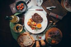 Beef steak. For restaurant Embers. Yekaterinburg, Russia stock images
