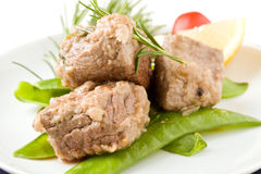 Beef Steak with with Rosemary Stock Photography