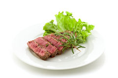 Beef steak with rosemary Stock Photo
