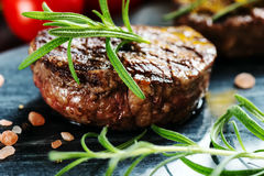 Beef steak with rosemary Stock Image