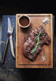 Beef steak, seasoning and sauce Stock Photography