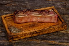 Beef steak short ribs. Black Angus royalty free stock photo