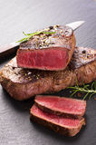 Beef Steak on a Slate Royalty Free Stock Image