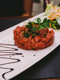 Beef steak tartare Royalty Free Stock Image