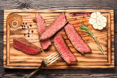 Beef steak. top view Royalty Free Stock Images