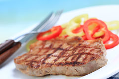 Beef steak with vegetables Royalty Free Stock Photo