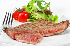 Beef steak with vegetables Royalty Free Stock Photos