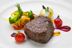 Beef steak and vegetables Stock Photo