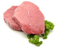 Beef steak. On white background Royalty Free Stock Images